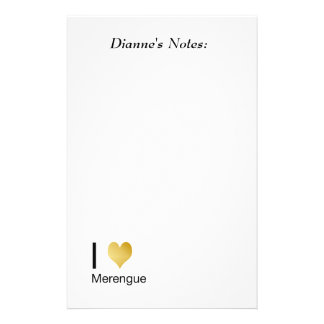 Playfully Elegant I Heart Merengue Stationery