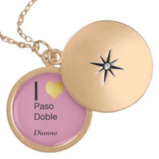 Playfully Elegant I Heart  Paso Doble Gold Plated Necklace