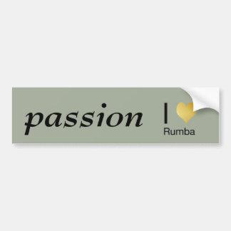 Playfully Elegant I Heart Rumba Bumper Sticker