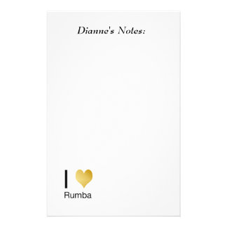 Playfully Elegant I Heart Rumba Stationery