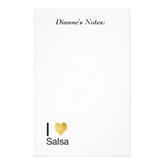 Playfully Elegant I Heart Salsa Stationery