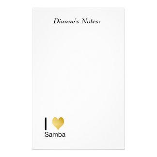 Playfully Elegant I Heart Samba Stationery