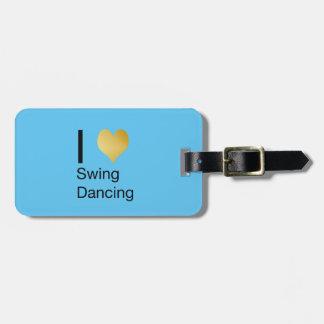 Playfully Elegant  I Heart Swing Dancing Bag Tag