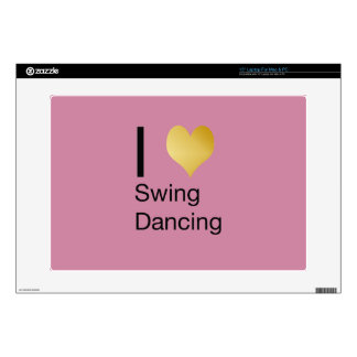 Playfully Elegant  I Heart Swing Dancing Decals For Laptops