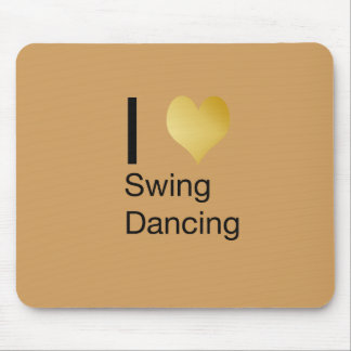 Playfully Elegant  I Heart Swing Dancing Mouse Pad