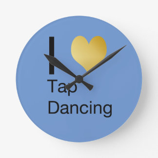 Playfully Elegant  I Heart Tap Dancing Round Clock