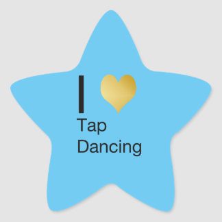 Playfully Elegant  I Heart Tap Dancing Star Sticker