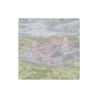 playground abstract pattern stone magnet