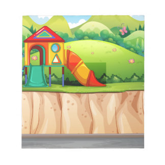 Playground at the park notepad