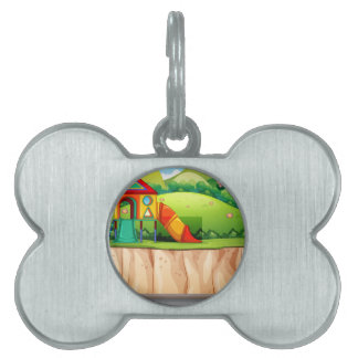 Playground at the park pet name tag