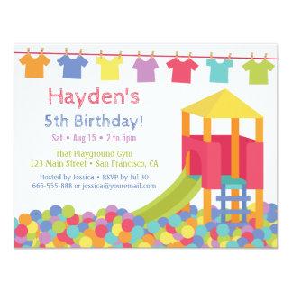 Playground Ball Pits Kids Tshirts Birthday Party Card