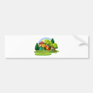Playground Car Bumper Sticker
