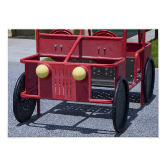 Playground Car, Bridgeport, California Poster