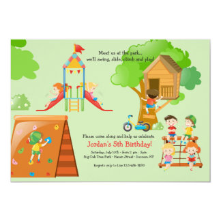 Playground Fun Invitation