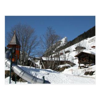 Playground, Gimmelwald, Jungfrau,Switzerland Postcard