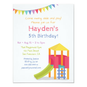 Playground birthday invitations announcements zazzle playground house kids birthday party invitations filmwisefo Gallery