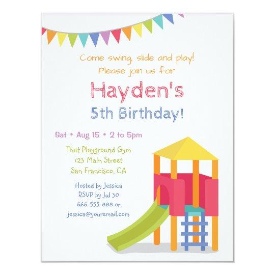 Playground house kids birthday party invitations zazzle playground house kids birthday party invitations filmwisefo