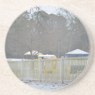 Playground in the Snow Beverage Coasters