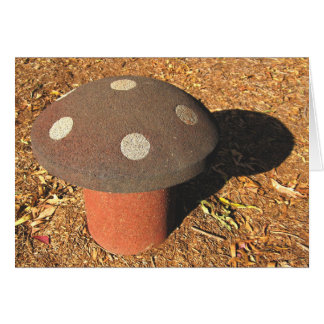 Playground Painted Toadstool Note / Greeting Card