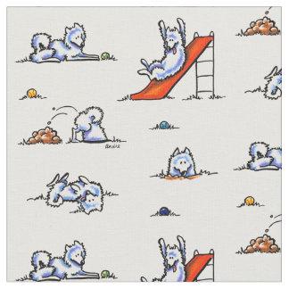 Playground Samoyeds White Fabric