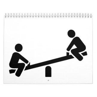 Playground seesaw calendar