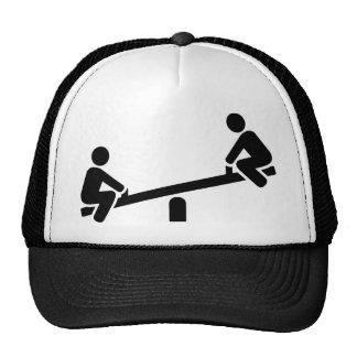Playground seesaw hats