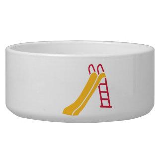 Playground slide pet bowl