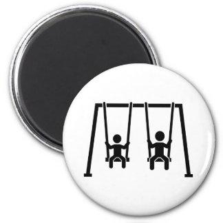 Playground swing 2 inch round magnet