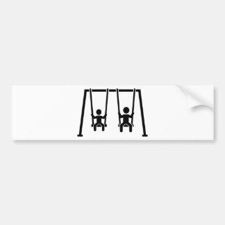 Playground swing bumper sticker