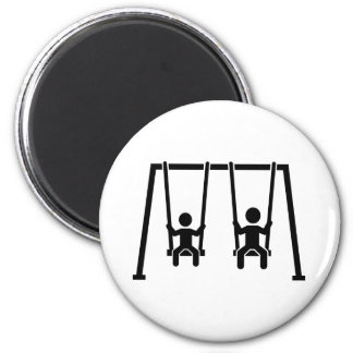 Playground swing magnet