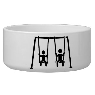 Playground swing pet water bowl