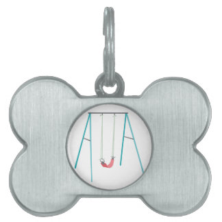 Playground Swing Pet Name Tag