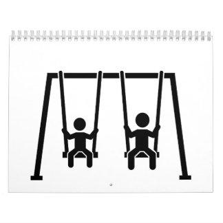 Playground swing wall calendar