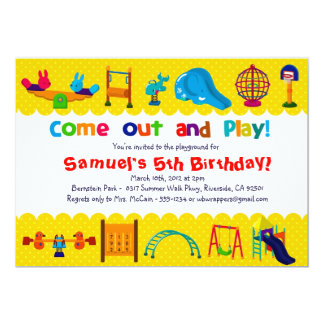 PLAYGROUND Themed - Birthday Party Invitations
