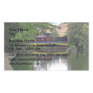 Playground train crossing bridge Double-Sided standard business cards (Pack of 100)