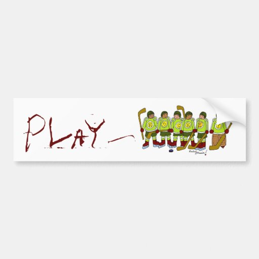 PlayHockey Bumper Stickers