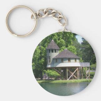 playhouse basic round button keychain