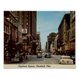Playhouse Square, Cleveland, Ohio Vintage Poster