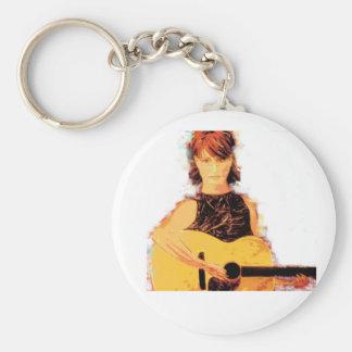 playin del chica de la guitarra llavero redondo tipo pin