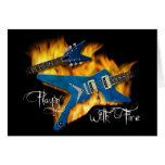 Playin with Fire Guitar Card