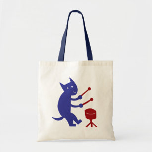Playing A Drum Tote Bag