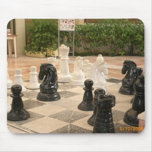 Playing a game of Chess Mouse Pad