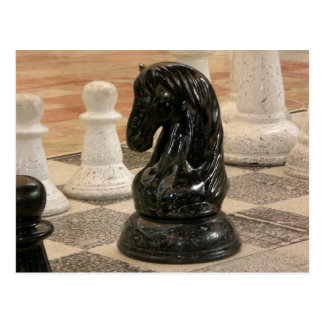 Playing a game of Chess Post Card