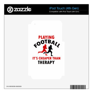 playing american footbal iPod touch 4G decals
