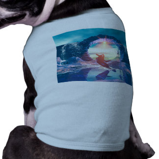Playing and jumping orca dog t-shirt
