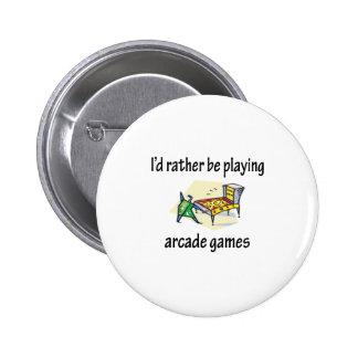Playing Arcade Games Pinback Button