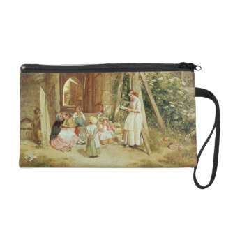Playing at Schools, 1857 (oil on panel) Wristlet