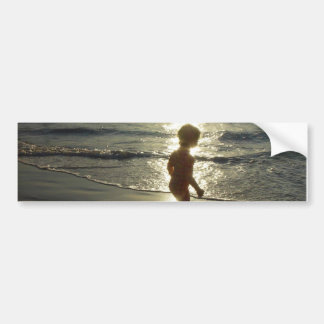Playing at the Beach Bumper Sticker