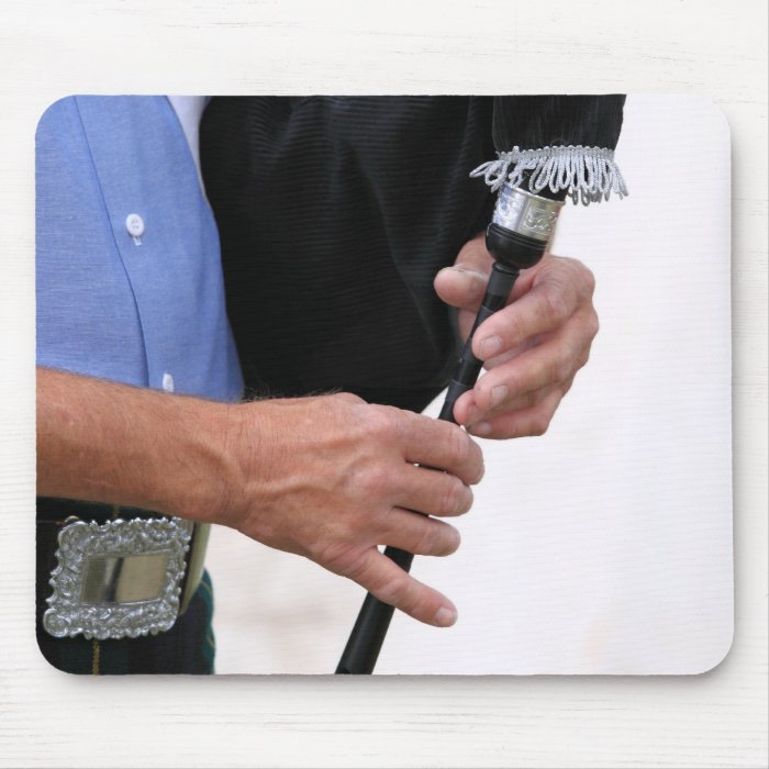 playing bagpipe mouse pad