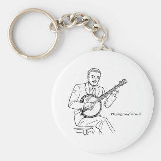 Playing Banjo Is Keen Basic Round Button Keychain